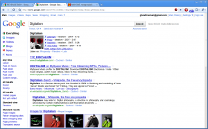 Screenshot of what appears to be a new Google search results page.